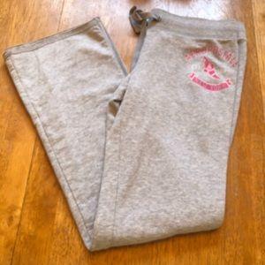 Aeropostale wide leg  sweatpants soft & cute Sz L